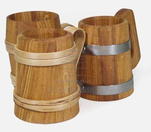 Wooden Beer Mugs Handcrafted Wooden Mug For Sale