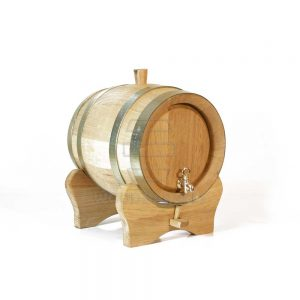 3 liter small oak barrel