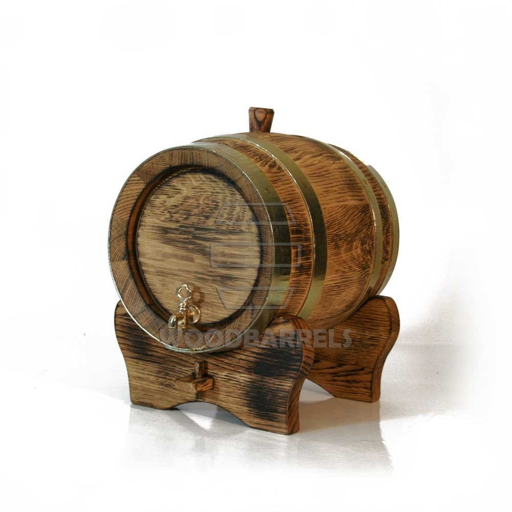 Small Oak Barrel 5l For Home Made Wine And Aging Whisky