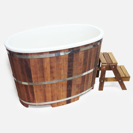 Wooden Bathtub For Sale With Fibre Insert