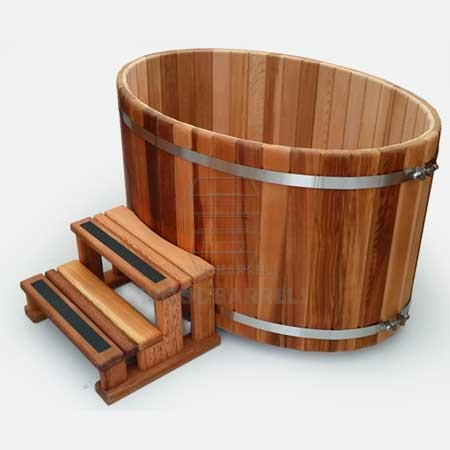 Wooden oval tub archives for Oval garden tub