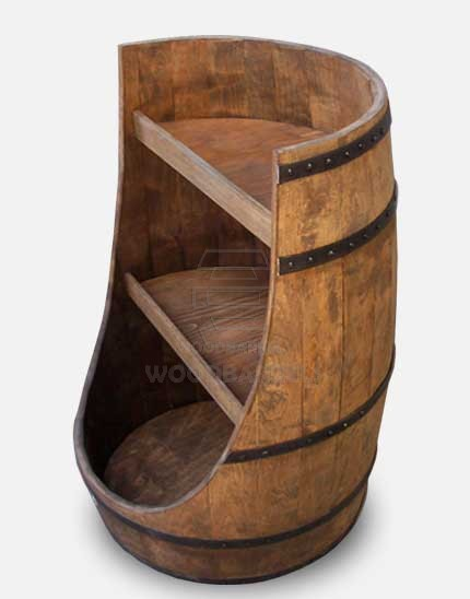 Wooden Display Barrels Add A Touch Of Rustic Charm To Your
