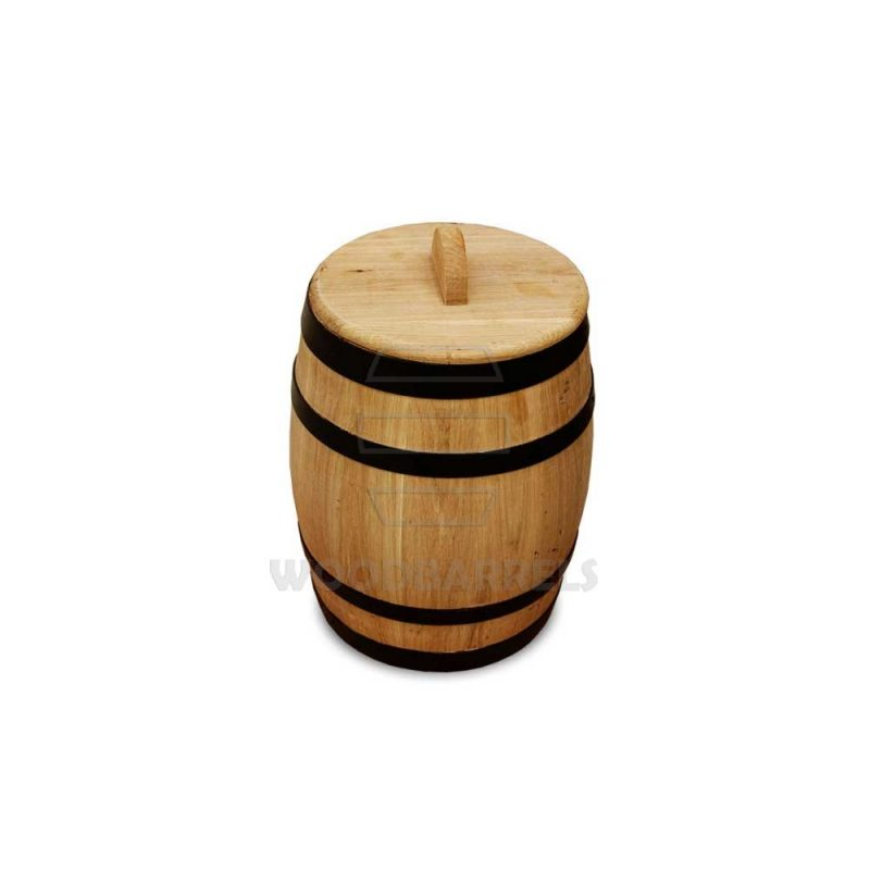 3 Litre Pickled Gherkins Oak Barrel