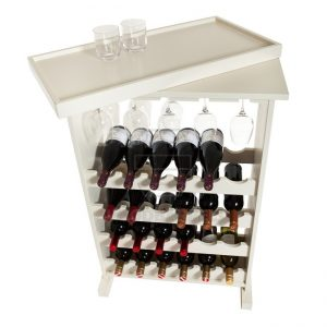 Cube Wine Rack for 24 bottles and 12 wine glasses