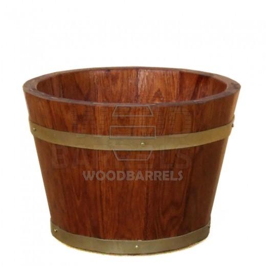 Round Oak Planter 30cm/21cm