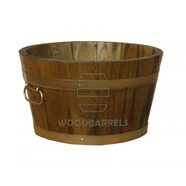 Round Oak Planter 40cm/20cm