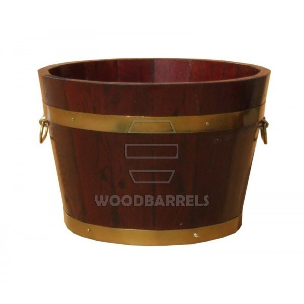 Round Oak Planter 40cm 20cm