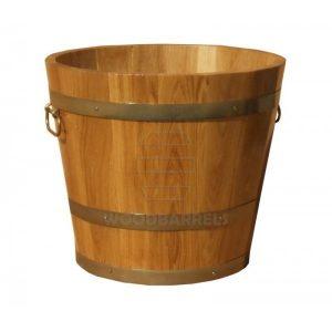 Round Oak Planter 46cm/45cm