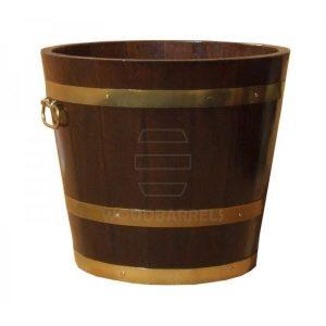 Round Oak Planter 43cm/30cm