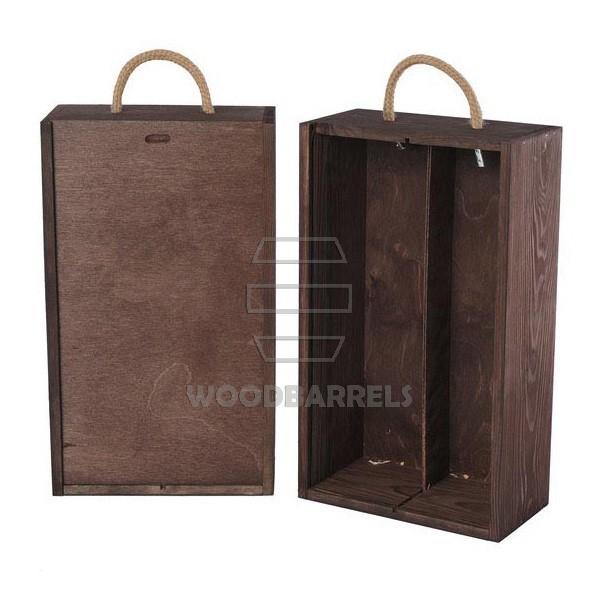 Wine Box for 2 bottles Sliding Lid palisander