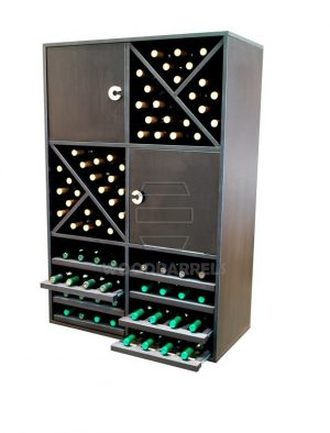 Wine Rack Display 72 bottles 8 shelves