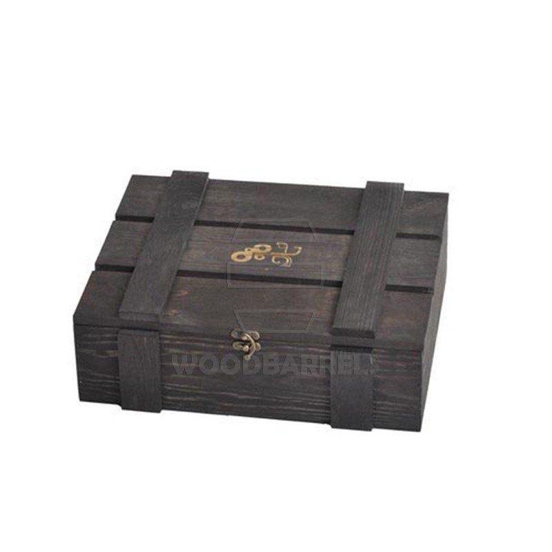 Wine Crate for 2 bottles black