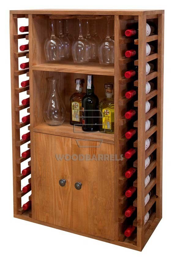 Wooden Wine Rack Display for 22 bottles