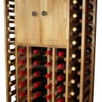 Wooden Wine Rack Display 46 bottles 2 doors