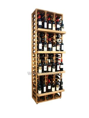 Wooden Wine Rack Display for 120 bottles