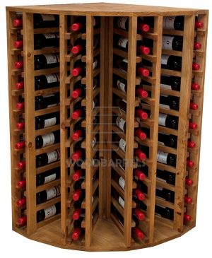 Wooden Wine Rack Display for 44 bottles
