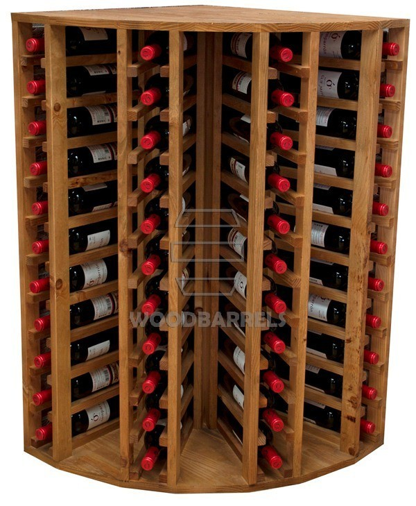 Wooden Wine Rack Display for 44 bottles