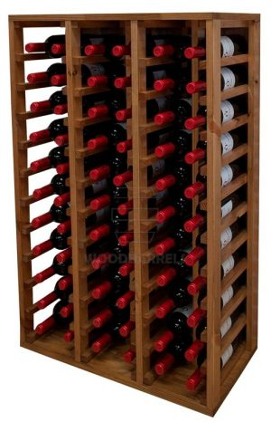 Wooden Wine Rack Display for 66 bottles