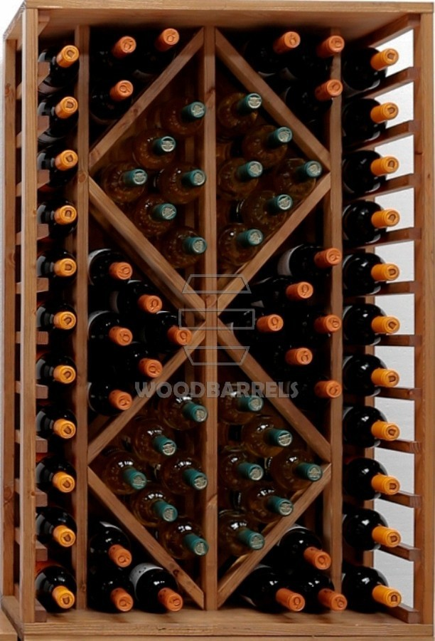 Wooden Wine Rack Display for 70 bottles