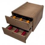 Wooden Wine Rack for 6 bottles