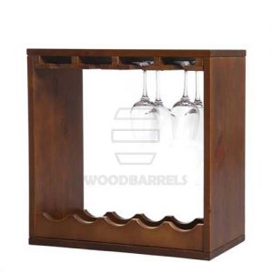 wooden cube wine racks
