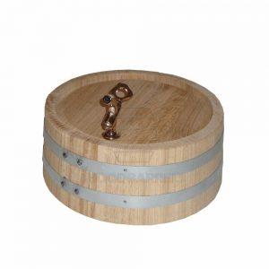 decorative oak barrel end