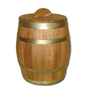 wooden water storage barrels