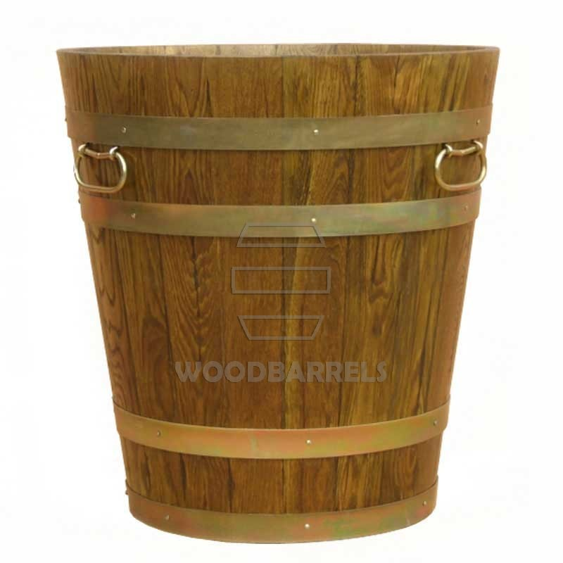 Round Oak Planter 60cm 65cm