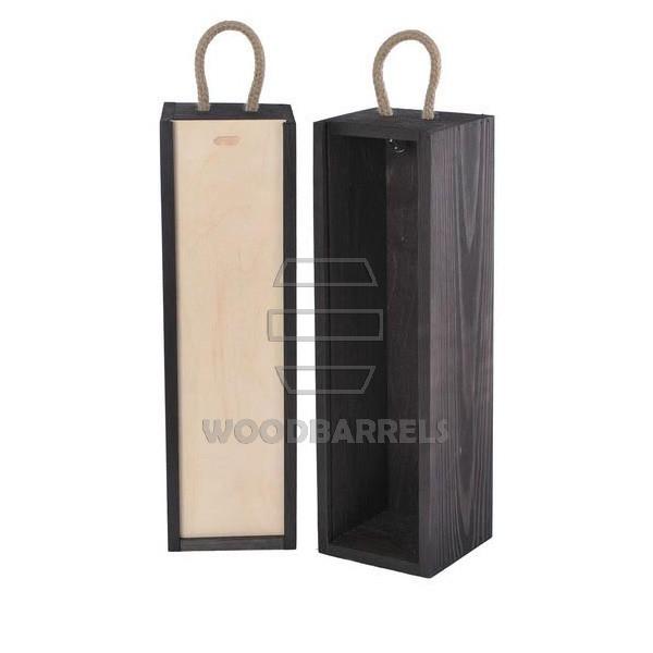 Sliding Lid Wine Box for 1 bottles black