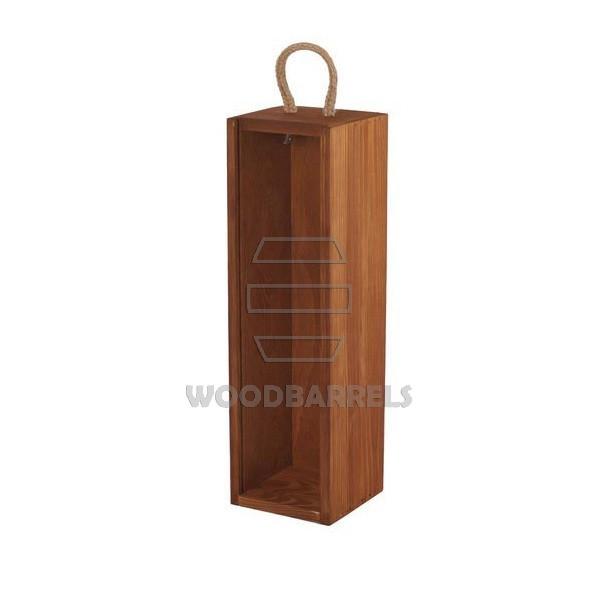 Sliding Lid Wine Box for 1 bottles ginger