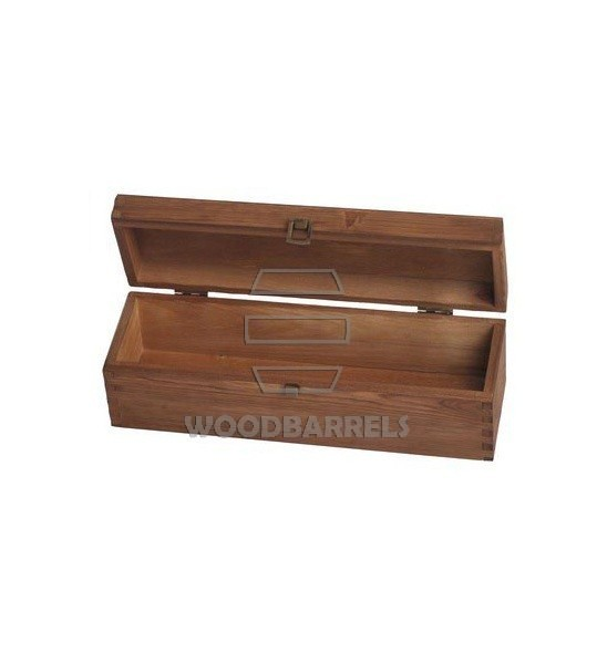 Hinged Lid Wine Box for 1 bottles