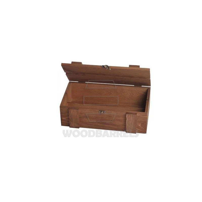Wine Crate for 2 bottles brown