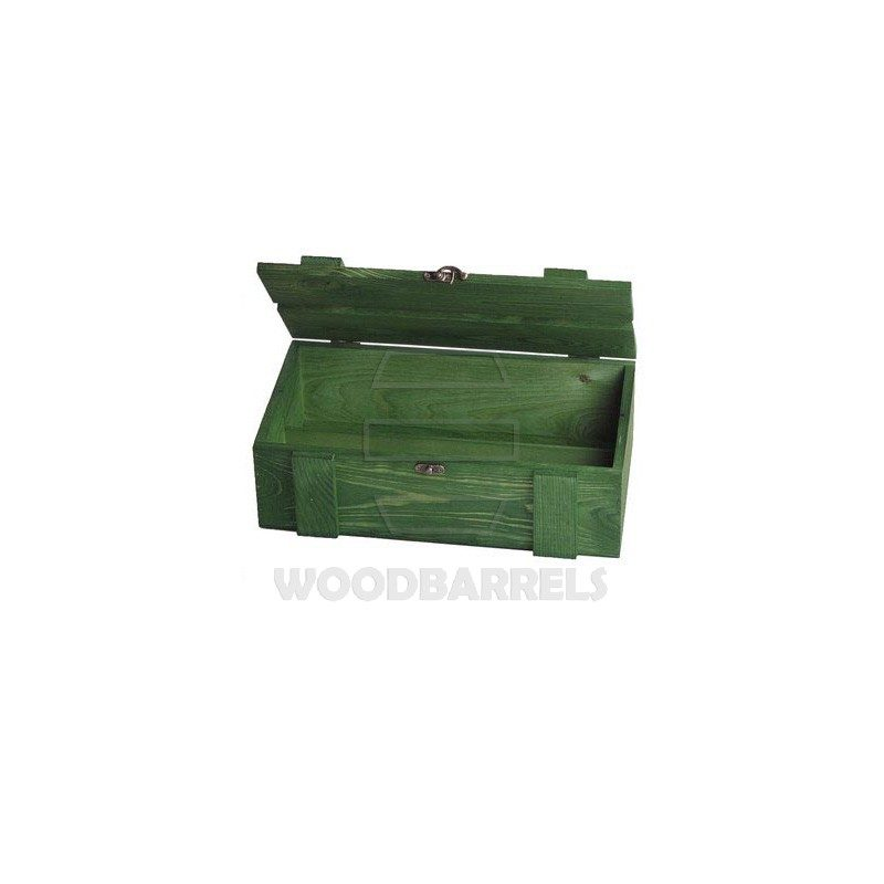 Wine Crate for 2 bottles green