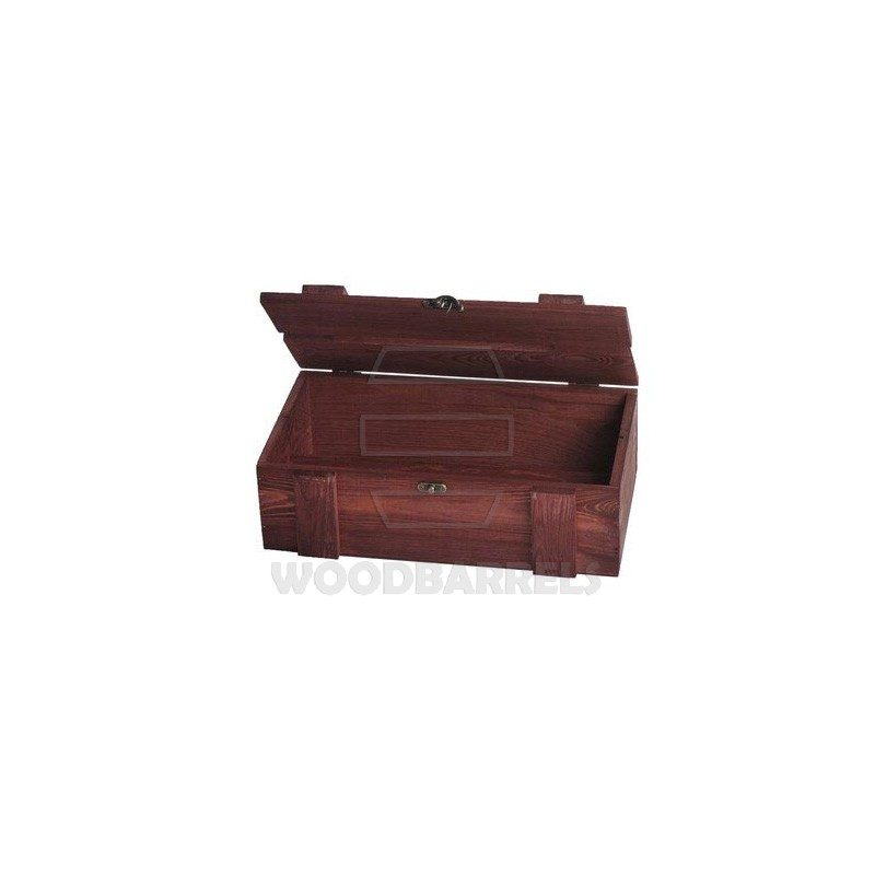 Wine Crate for 2 bottles mahogany