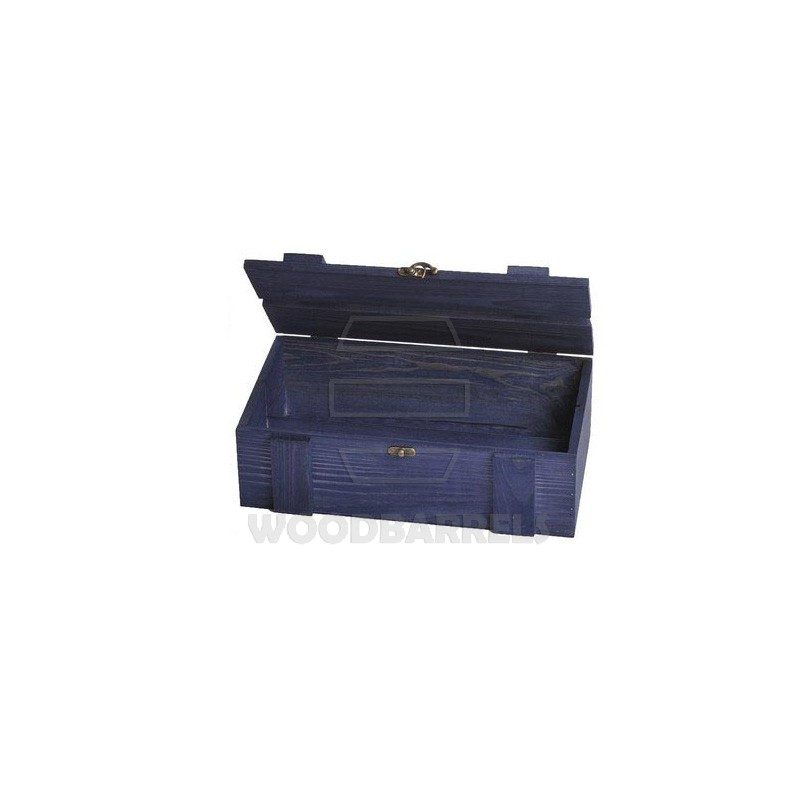 Wine Crate for 2 bottles navy_blue