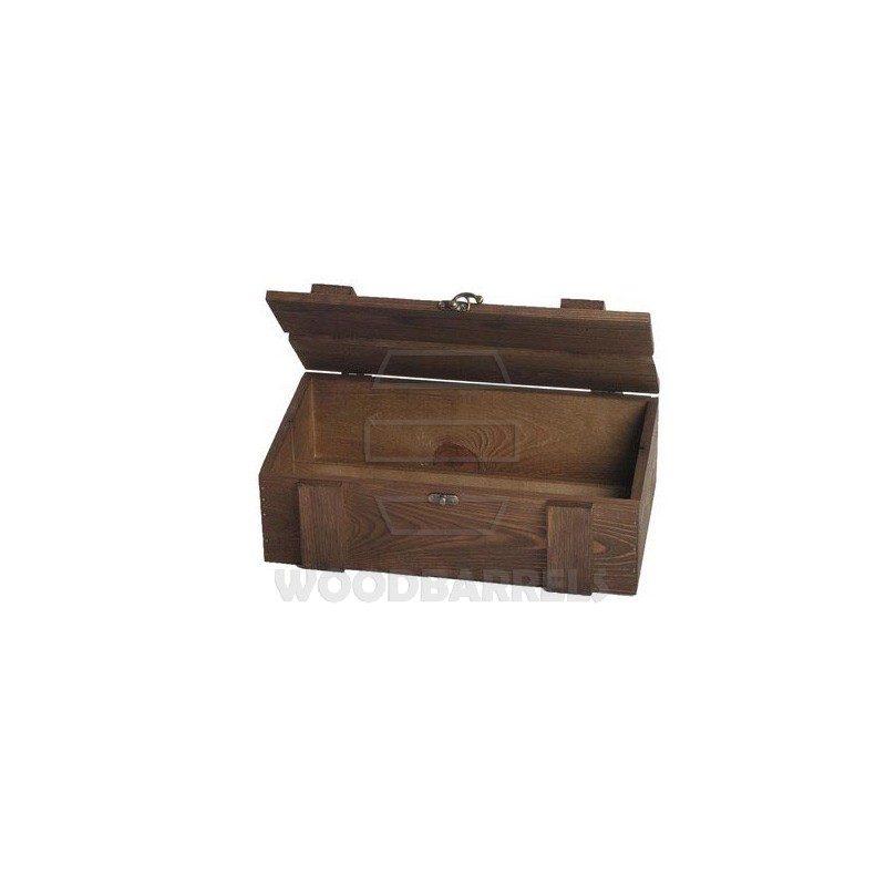 Wine Crate for 2 bottles walnut