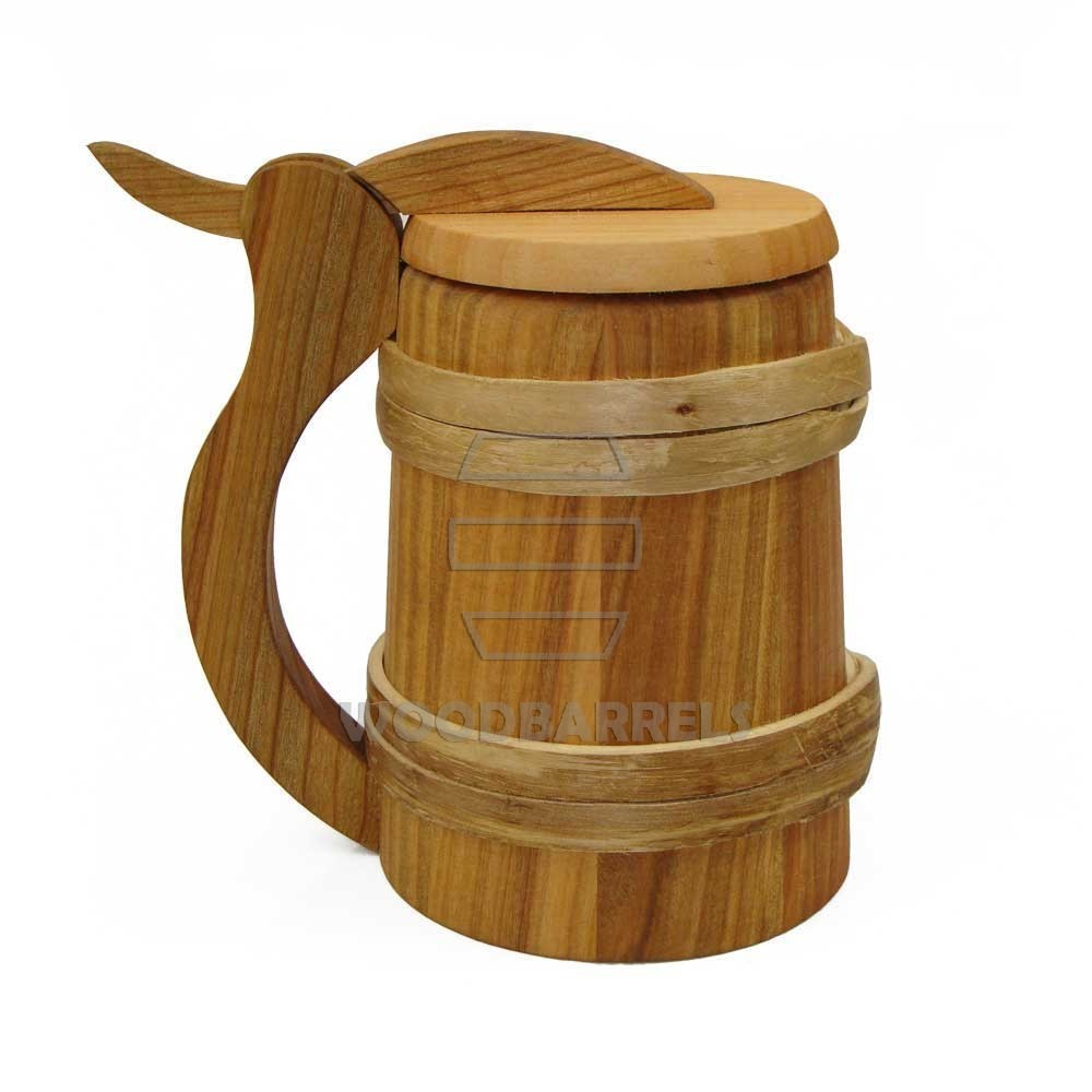 Wooden Beer Stein With Lid