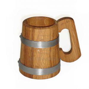wooden tankard mug