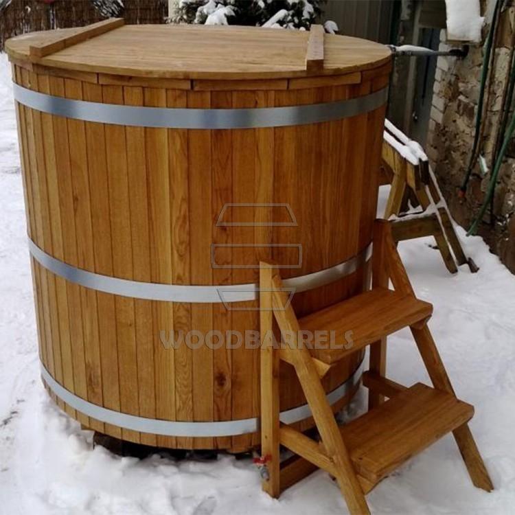 how to build a wood barrel hot tub