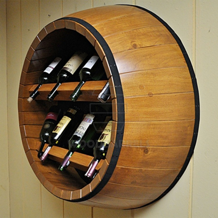 barrel end wine rack
