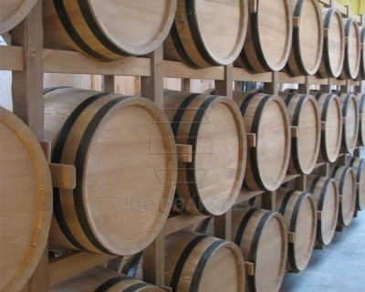 Wooden Display Barrels Wall