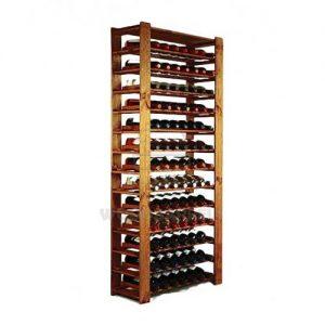 wooden cube wine rack