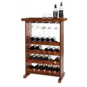 Cube Wine Rack for 24 bottles and 12 wine glasses