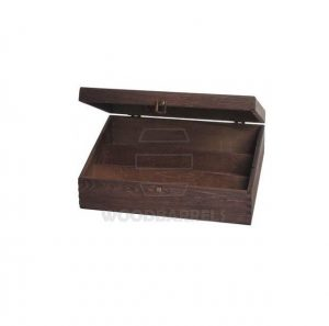 Hinged Lid Wine Box for 3 bottles