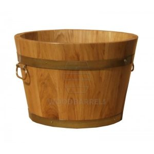 Round Oak Planter 44x35cm