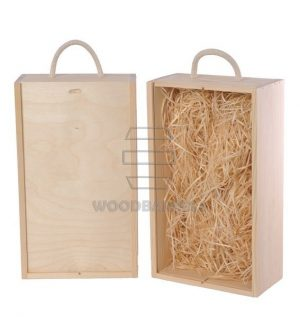 Wine Box for 2 bottles Sliding Lid