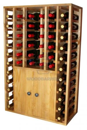 Wooden-Wine-Rack-Display-2-doors-46-bottles