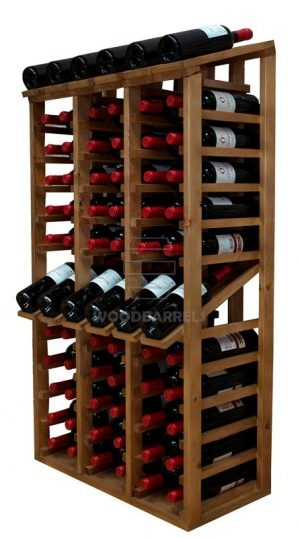 Wooden Wine Rack Display for 58 bottles