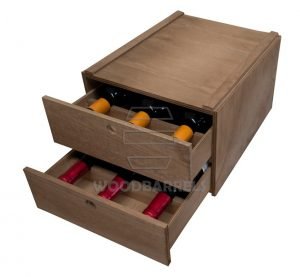 Wooden Wine Rack for 6 bottles