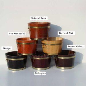 Round Oak Planter coloures